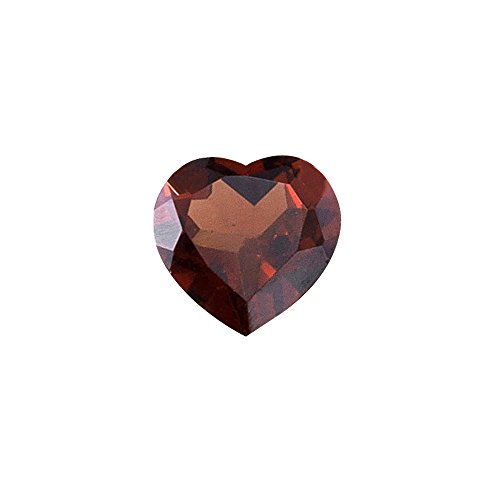 3.40-4.10 Cts of 10x10 mm AAA Heart Mozambique Garnet ( 1 pc ) Loose Gemstone ()