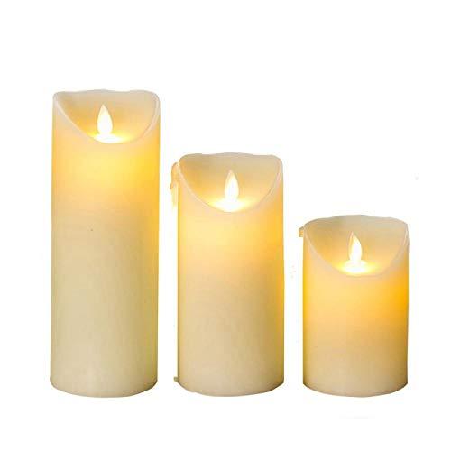 Creatieve kaars LED Vlamloze Kaarsen Licht Glad Flickering Paraffine Wax LED Kaars met Timer Afstandsbediening voor…