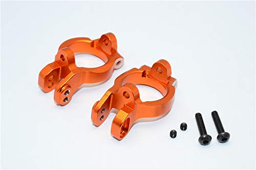 Raidenracing Aluminum Alloy Front C-Hub Caster Block Steering Knuckle Carrier for Axial 1/10 Yeti 90025 90026 90050 - Orange