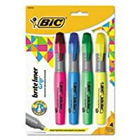 BICBLMGP41ASST - BIC Brite Liner Fluorescent Highlighters