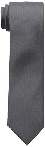 (Calvin Klein Men's X Liquid Luxe Solid Necktie, Charcoal, One Size)