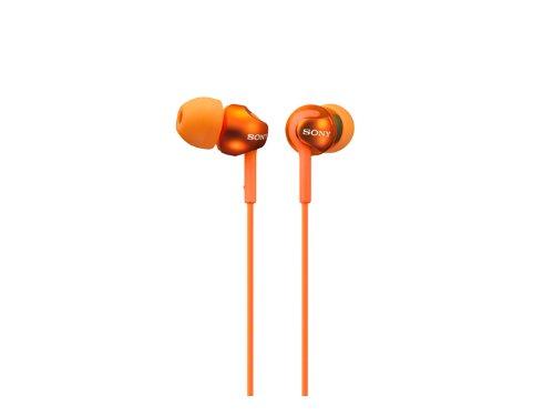SONY sealed inner ear receiver headphone MDR-EX110LP/D Orange