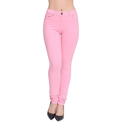 Coupe Superglamclothing Jeggings Rose Mince Rose Extensible Femmes Color bb Jean C1tyFtrvq