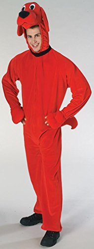 [Rubie's Deluxe Clifford the Big Red Dog Costume - Adult standard 16353-STD] (Adult Clifford Costumes)