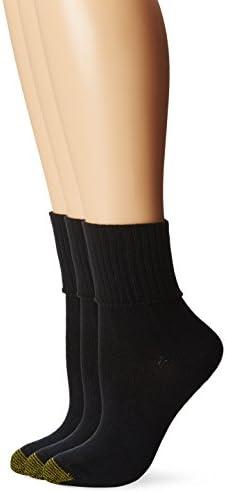 Gold Toe womens Women's 3-pack Bermuda Turn Cuff Sock
