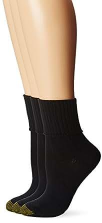 Gold Toe Women's Bermuda Turn Cuff Sock, Pack of 3 at ...