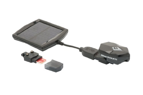 Blackburn Flea 2.0 Front Headlight with USB and Solar Chargers, Black