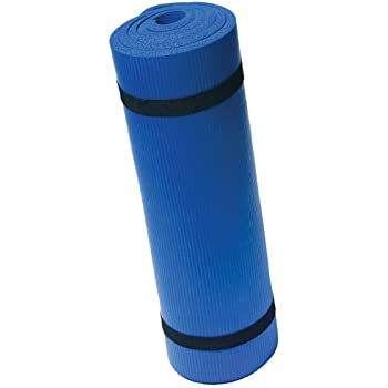 Harbinger Ribbed Durafoam Exercise Mat 5/8-Inch, Blue