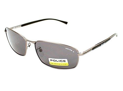 Police S8650-627P Wrap Sunglasses,Grey,58 - Men Police For Sunglasses 2012