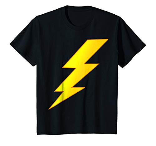 Kids Lightning Bolt last minute Halloween costume shirt