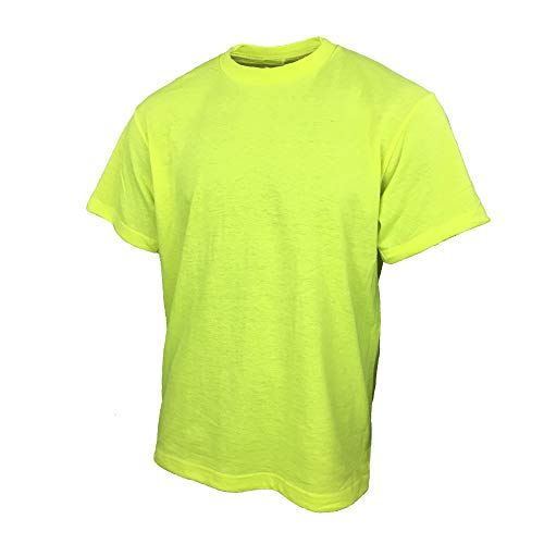 Safety T Shirts for Men with High Visibility Work Shirts (X-Large, Yellow)