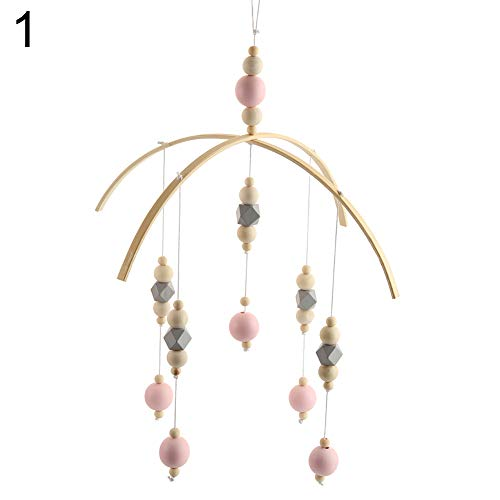 yanQxIzbiu Wind Chimes for Outdoor, Nordic Style Wooden Beads Wind Chimes Baby Crib Hanging Decor Photo Studio Props - 1#