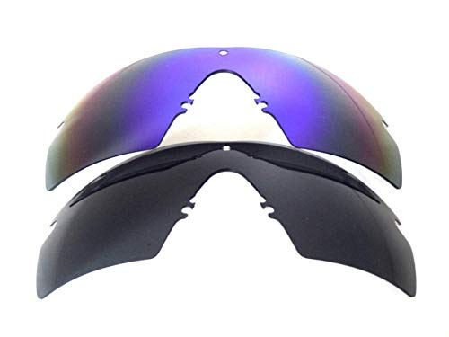 Galaxy Replacement Lenses For Oakley Si Ballistic M Frame 2.0 Z87 Black/Blue 2 Pairs