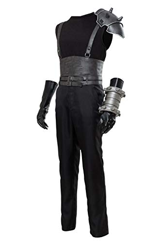 Mesodyn Adult Final Fantasy Cloud Strife Costume Halloween Cosplay Suit Small Black -