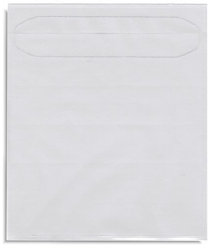 StarTechDeals 100 Clear Poly Sleeve CDs or DVDs Adhesive Backed (Tamper Proof Sleeves) ()