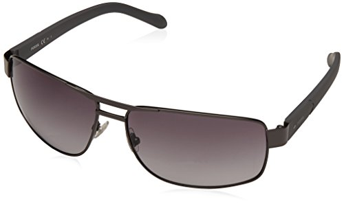Fossil Men's Fos3060s Rectangular Sunglasses, Dark Ruthenium Gray/Gray Gradient, 63 mm