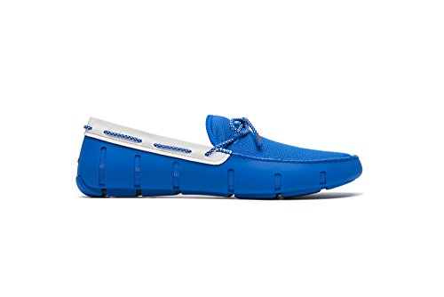 SWIMS Loafers Lace Sparkle Men's White Blue Blitz vUqwvEBr