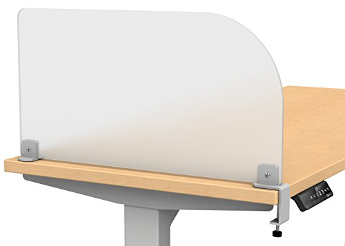Acrylic Clamp on Privacy Desk Divider Size: 12'' H x 23'' W by VaRoom (Image #5)