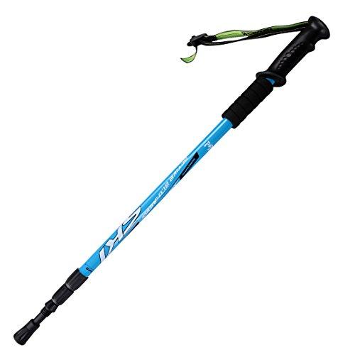 KevenAnna Trekking Poles, Adjustable Retractable Anti Shock Durable Aluminum Hiking Sticks for Outdoor Walking Trekking Climbing, 1 Piece