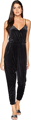 - Juicy Couture Women's Track Lightweight Velour Cami Jumpsuit Pitch Black Large