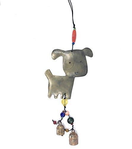 Ella Sussman Happy Dog Puppy Handmade Wind Chime Beaded Garden Nana Bell