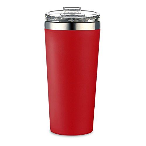 AA Products 16oz Tumbler-Vacuum Insulated Double-Walled 18/8 Stainless Steel Water Bottle/Travel Coffee Mug For Cars, Home,Office,School-Red - Red Coffee Mug