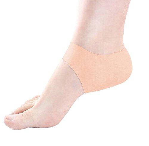 1par silicona Gel funda protective secado duro agrietada piel para cuidado de los pies protectores de alivio del dolor (piel)