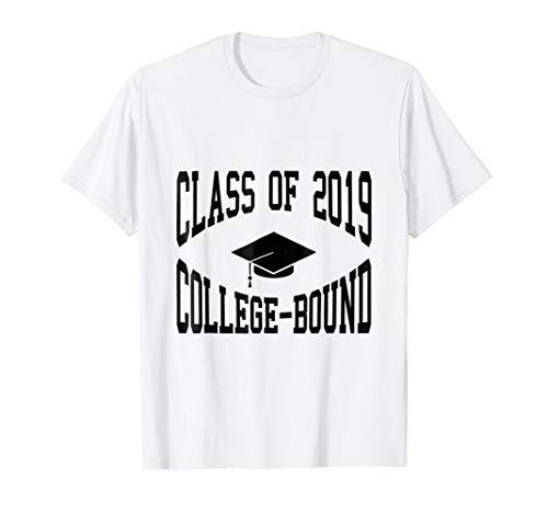 Class of 2019 College-Bound Graduation T-Shirt (Bound White T-shirt)
