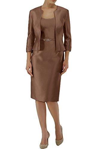 Abendkleider Damen Etuikleider Langarm Weiss Formalkleider Brautmutterkleider Formalkleider Charmant Braun Festlichkleider xXpCdTC