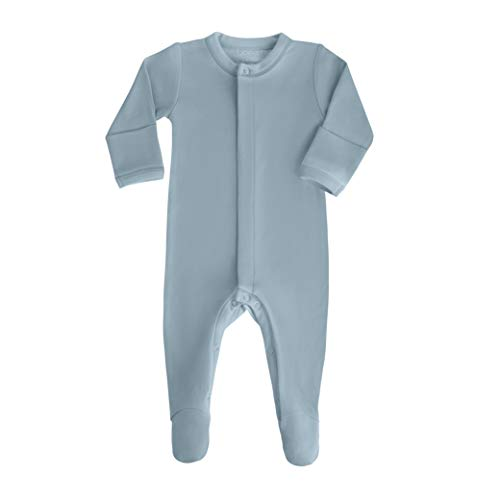 (bonamy Baby Unisex Organic Cotton Footie Sleeper with Mittens-Sleep 'N Play for Boys with Long Sleeves in)