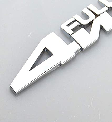 3D Metal 4 Wheel Drive Logo Side Fender Rear Trunk Emblem Badge Decals Sticker for All 4 Wheel Drive Car Models Chrome EmbRoom 4WD Full TIME