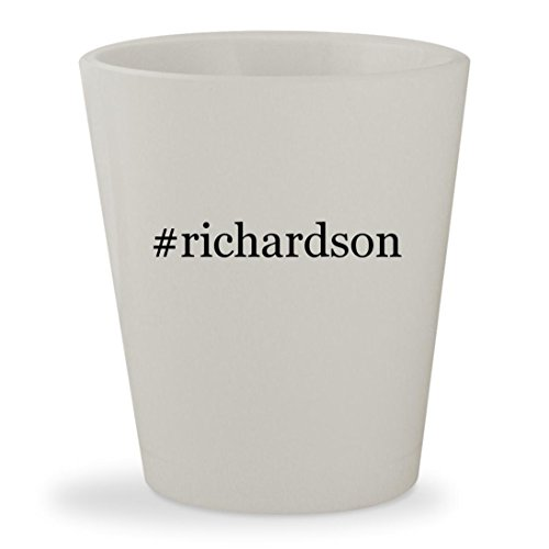 #richardson - White Hashtag Ceramic 1.5oz Shot Glass