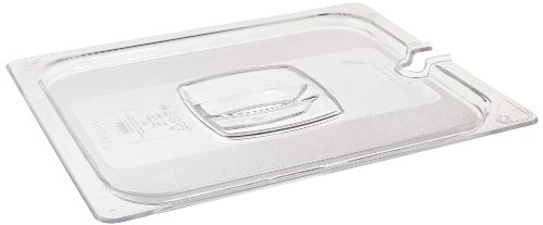 Rubbermaid Commercial Products FG128P86CLR 1/2 Size Cold Food Pan Cover with Utensil Notch by Rubbermaid Commercial Products