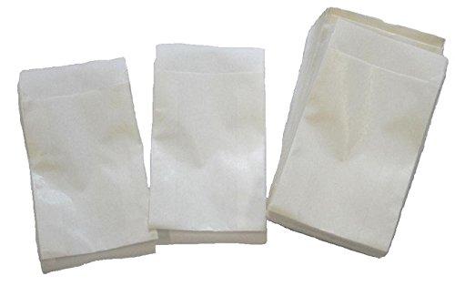 Bolsas de papel blanco plana 5, 3 x 7, 8 cm: Amazon.es: Jardín