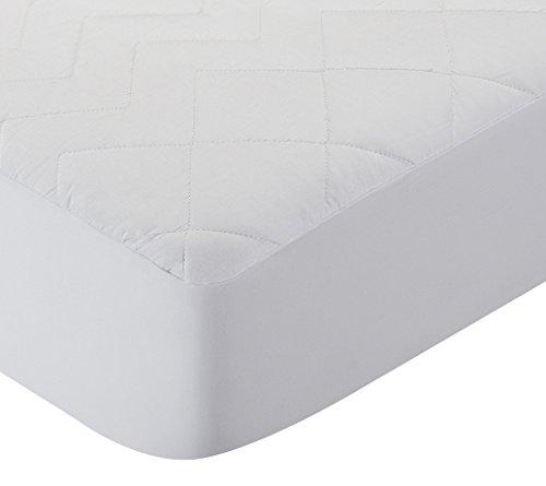 Pikolin Home - Protector de colchon/Cubre colchon acolchado de fibra antiacaros, transpirable, 90x190/200cm-Cama 90 (Todas las medidas)