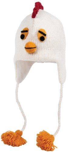 Nirvanna Designs CHCHIX2 Chicken Hat with Fleece , White, 5