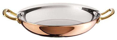 Paderno World Cuisine Copper-Stainless Steel Paella Pan, 10 1/4-Inch