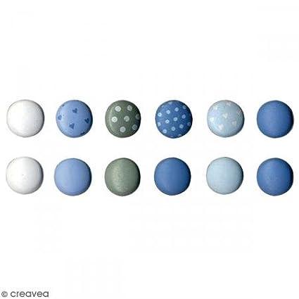 10 x 2 x 12,5 cm Multicolore Artemio 11060353 Set de 60 Attaches Parisiennes Mini Rondes M/étal