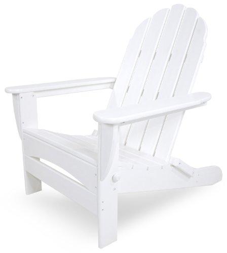 POLYWOOD AD7030WH Classic Oversized Curveback Adirondack Chair, White
