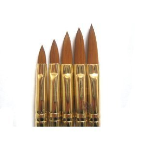5 Pcs Acrylic Nail Art UV Gel Carving Pen Brush Liquid Powder DIY No. 2/4/6/8/10 Grifri