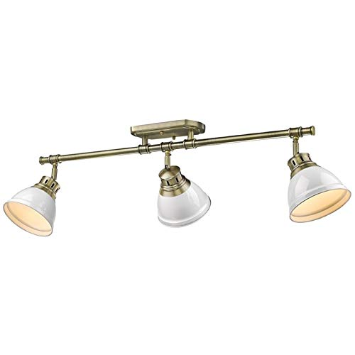Beaumont Lane 3 Light Track Light in Aged Brass with a White Shade by Beaumont Lane (Image #6)