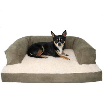 Beasley Pet Couch Med Sage Poly-Suede, My Pet Supplies