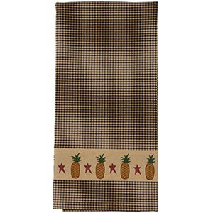 The Country House Collection Hand Woven 100% Cotton Primitive Pineapple Towel (19x28)
