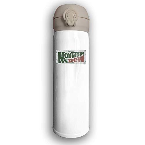 Water Bottle Mountain Dew Stainless Water Bottle, Leak-Proof Vaccum Cup, Sports Drinking Bottle/Travel Coffee Mug -
