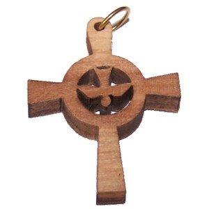 Holy Spirit Olive wood Dove Cross Laser(8cm or 3.15