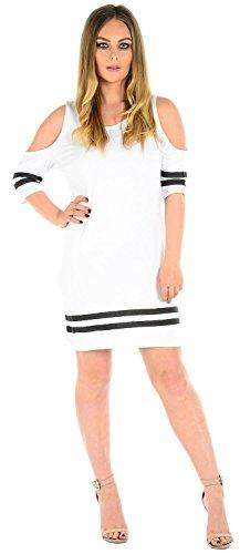 Il Cioccolato Vestono 18 Tunica Donne Bianco Delle Nuove Formato Salamoia Che Spalla Fredda 4 Più PfqfXgT