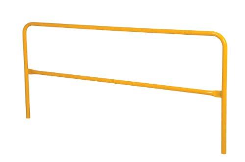 Vestil VDKR-8 Pipe Safety Railing with Powder Coat Yellow Finish, Steel, 96