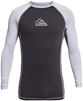 Quiksilver Backwash - Licra De Manga Larga con Protección Solar UPF 50 para Hombre L/SL Surf tee, Hombre, Sleet Heather, M: Quiksilver: Amazon.es: Deportes y aire libre