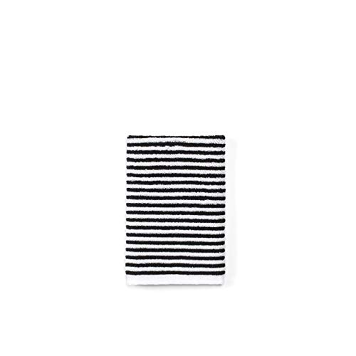 - Calvin Klein Home Donald Wash Cloth, White/Black