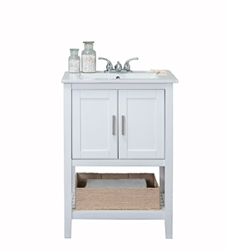Legion Furniture WLF6020-W-BS Bathroom Vanity, 24